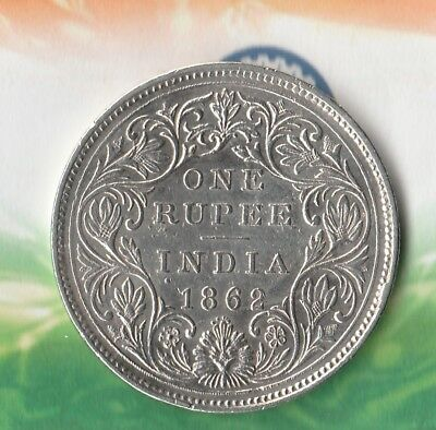 1862 Silver Rupee- British India~ 91.7% Silver~ Really Nice 156 Year Old Coin