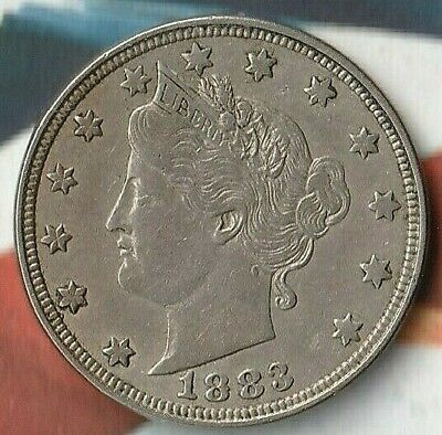 "1883-LIBERTY HEAD FIVE CENTS- 5C MS- Scare- ""NO CENTS"" Variety- Great Shape!!"