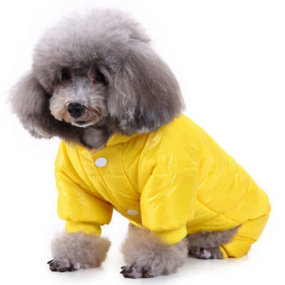 Pets Puppy Winter Warm Cotton Padded Hoodie Dog Coat Sweater Pet Clothes