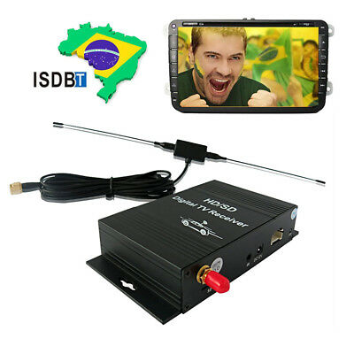 4 Video out ISDB-T Tuner For South American Car Radio DVD Terrestrial Antenna