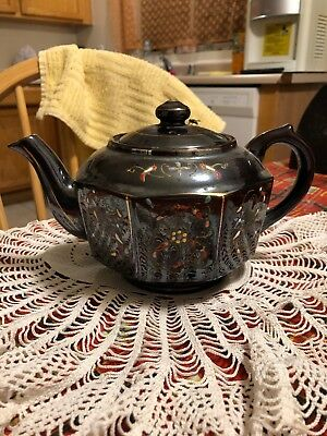 Japan Redware Brown Betty Teapot Vintage Ceramic Tea Pot