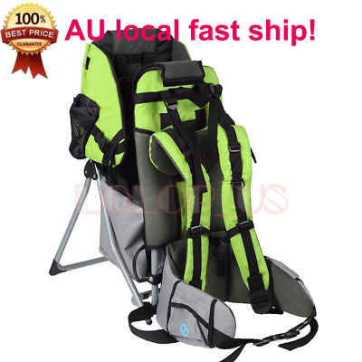Baby Hiking Backpack Child Kid Toddler Carrier w/ Stand Sun/Rain Canopy Shield