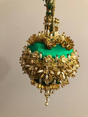 Vintage Cracker Box Christmas Ornament completed
