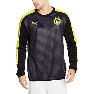 Puma Men's BVB Cup Stadium Sweatshirt, Men, Sweatshirt, 749842 02, black-Cyber y