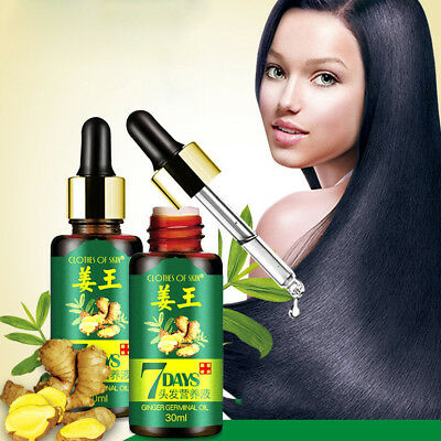 7 Days Ginger Essential Oil Nourishing Hair Growth For Dry Damaged Hairs New Tre