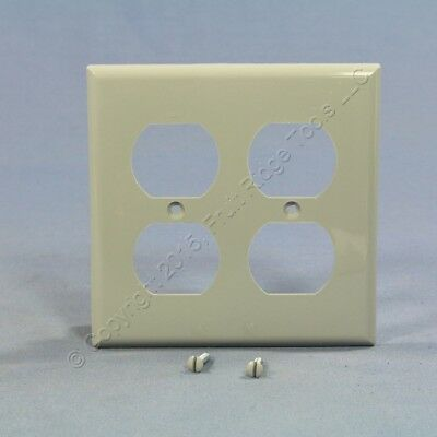 Eagle Gray 2-Gang Receptacle Wallplate Unbreakable Duplex Outlet Cover 5150GY