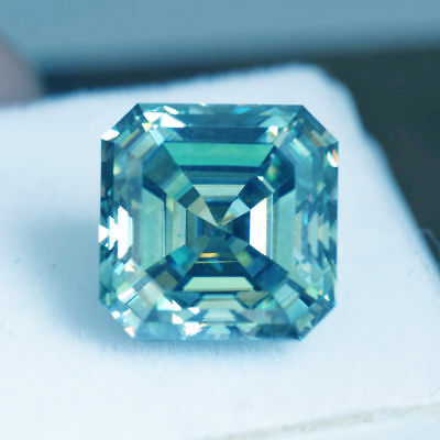 Blue Loose Real Moissanite Asscher Cut 1 CT to 5 CT VVS, For Engagement ring