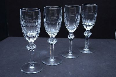"""Waterford Curraghmore Crystal Sherry Wine Glasses Goblets stemware 6 3/8"""" SET 4"""