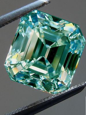 1 Ct to 5 ct Moissanite Emerald Loose VVS1 Blue Color Engagement for ring