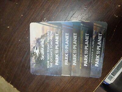 Seaworld Ticket- Admission for adult or child San Antonio 5 tickets
