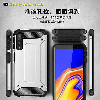 For Samsung Galaxy A7 2018 A750, Shockproof Hybrid Armor Hard PC TPU Case Cover