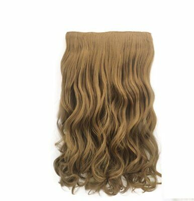 Coffee Brown Curly Hair Piece Extension Hidden Invisible Wire Piece Secret Hair