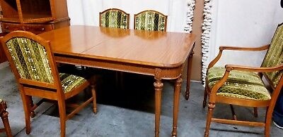 Antique Dining Table, 6 Dining Chairs, Sideboard, & China Cabinet