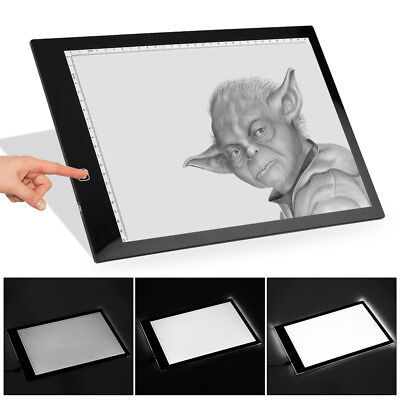A3 A4 LED Ultra Slim Art Craft Drawing Copy Tracing Light Box Pad Board Kids AU