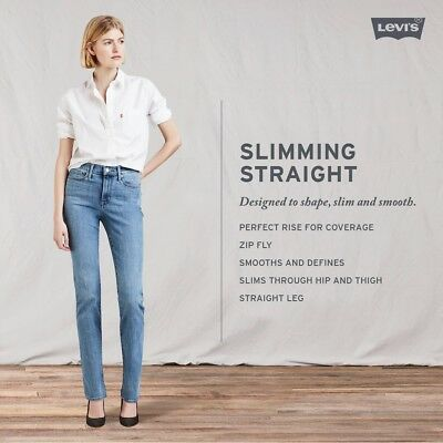 NWT Women's Levi's Slimming Straight Leg Perfect Rise Jeans 3 Colors FAST SHIP
