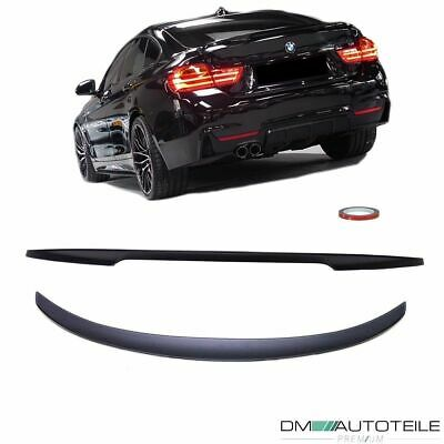 Sport-PERFORMANCE Rear Trunk Spoiler Lip Roof Black Matt fits BMW 4-Series F36
