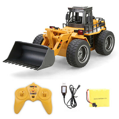 DIY 6CH RC Excavator Metal Shovel Remote Control Construction Bulldozer Truck