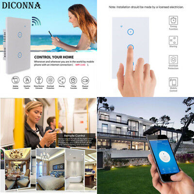USA Smart WiFi Light Switch in Wall - Compatible With Amazon Alexa & Google home