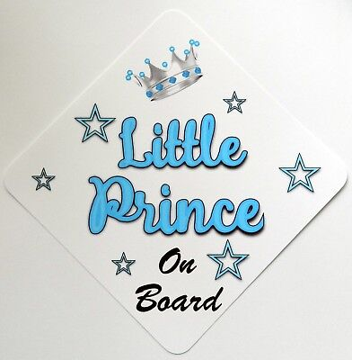 Baby Safety & Health Hearty Handmade Grandads Little Prince Baby On Board Car Sign Special Buy