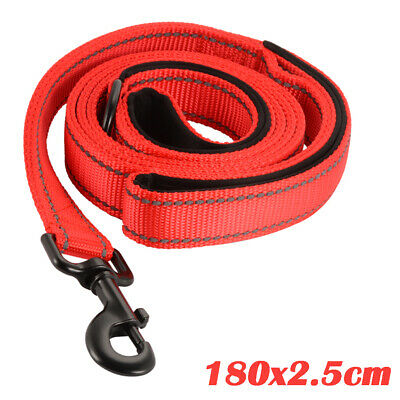 Double Soft Handle Strong Nylon Pet Lead Leash for Medium Large Dogs Red PS250