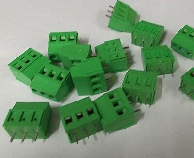 16 Amp Terminal Block 3 Way 5.08mm PA250-5.08-3VE Vertical PCB Offers x 1pc