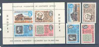 Rhodesia 1966 Rhopex Complete Set Very Fine Mnh