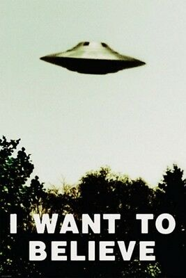 X-FILES I WANT TO BELIEVE UFO POSTER (91x61cm) ALIEN NEW LICENSED ART WALL DECOR