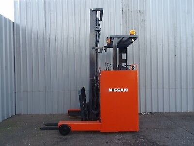 NISSAN JHCOIL15HU.4500mm LIFT. USED ELECTRIC FORKLIFT TRUCK. (#2184)