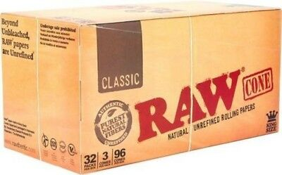 Raw Classic Pre Rolled Cones King Size - 3 Piece