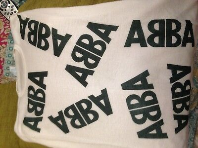 ABBA T Shirt 100% Polyester Small Homemade Good condition