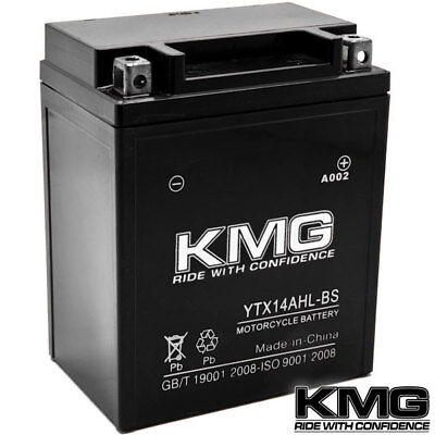 YTX14AHL-BS KMG Maintenace Free 12 Volt Battery Powersport Sportbikes Cruisers