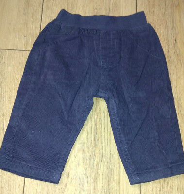 Marks & Spencer Blue Cord Style Trousers | 0-12 Months | Brand New