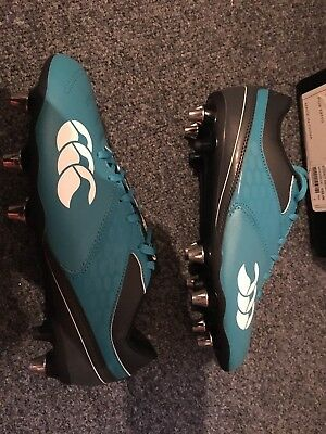 Canterbury Phoenix 2.0 Sg New Rugby Boots Size 7.5 EUR 41.5 Blue And Navy