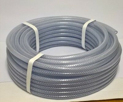 """Speedway 6mm bore PVC Reinforced Fuel pipe - 1/4"""" Hose - Clear"""