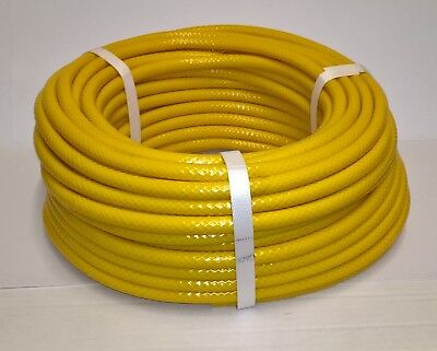 """Speedway 6mm bore PVC Reinforced Fuel pipe - 1/4"""" Hose - Yellow"""