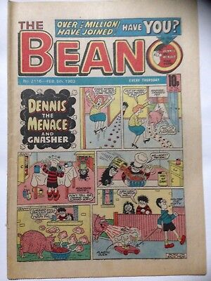 DC Thompson THE BEANO Comic. Issue 2116 February 5th 1983. **Free UK Postage**