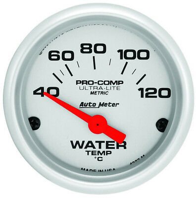 Auto Meter 2in U/L Water Temp Gauge - Metric 40-120C