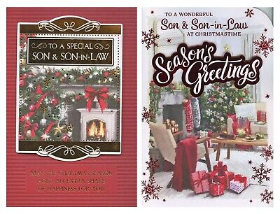 Larger To A Special Son And In Law Christmas Card 1St Pp
