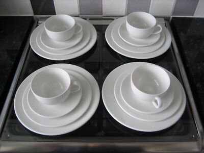 4 cups, saucers, side plates and dinner plates