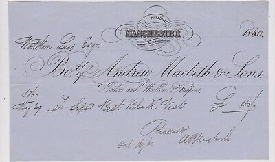 Billhead Invoice Manchester Piccadilly Macbeth & Sons Tailors 1860