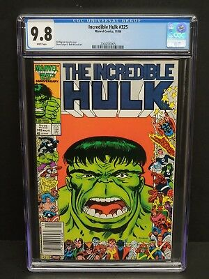 Marvel Comics Incredible Hulk #325 1986 Cgc 9.8 Wp Al Milgrom Newsstand