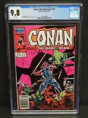 Marvel Comics Conan The Barbarian #191 1987 Cgc 9.8 White Pages Jim Owsley Story
