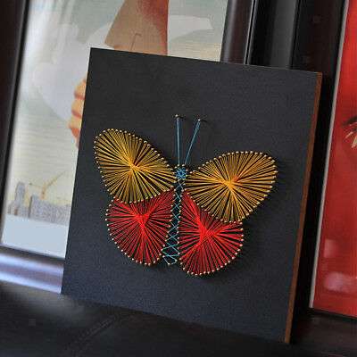 Butterfly String Arts, Pin String Art Kits with Wood Board DIY Home Decor