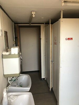 20ft x 8ft Site Office.Storage Shipping Container Toilet Block