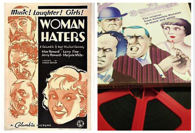 """Super 8mm Sound Film: THE THREE STOOGES """"Woman Haters"""" (1934) EXCELLENT - 400 ft"""