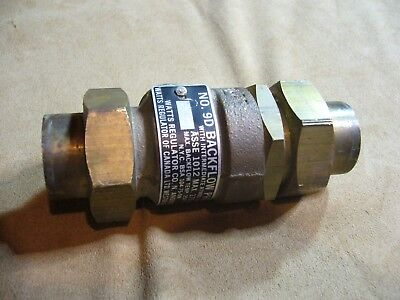 "Watts No. 9D Backflow Preventer - Dual Check Valve - Max 175 lbs - 3/4"" Bronze"