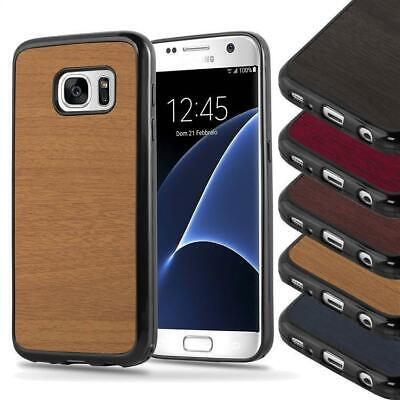 Case for Samsung Galaxy Protection Cover Wooden Style colors Bumper Silicone TPU