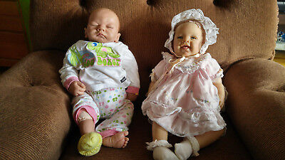 New Born Fake  Baby Doll Vinyl & Fake Baby Girl Vinyl  Dolls , Waltrad Hanl 21""