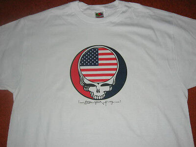 USA Grateful Dead T-SHIRT Steal Your Flag Jerry Garcia Phil Lesh Dead & Co Weir