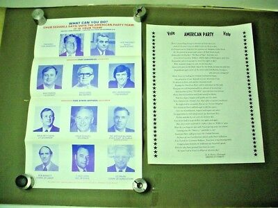 American Party 1976 North Carolina Mailer - Tom Anderson for President & More
